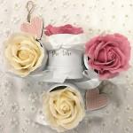 Mini flowerboxík s mýdlovou růží - růžový