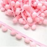 Bambulkový prýmek pudrově růžový - 30 mm - 1m