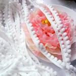 Bambulkový prýmek bílý - 15 mm - 1m