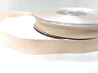 Stuha taftová perleťová 12 mm - krémová - 1 m