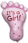 Foliový balónek - noha - je to holka - 96 cm