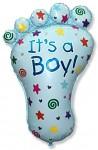 Foliový balónek - noha - je to kluk - 96 cm