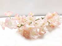 Větev broskev 52 cm  - růžová