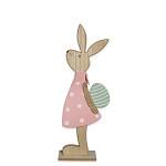 Zajíc s nůší porcelánový hnědý - 168 mm