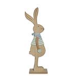 Zajíc s nůší porcelánový bílý - 168 mm