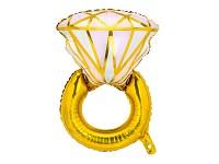 Fóliový balonek - svatební prsten 53 cm