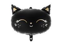 Foliový balonek - černá kočka 48 cm
