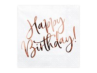 Ubrousky - Happy birthday rosegold