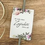 Kartičky na prskavky - bílé s růžemi - 8 ks