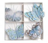 Motýlci na klipu - 4 ks - zelení