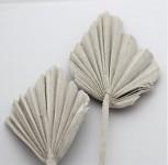 Palmový list (palm spear) - flocking bílý - 50 cm