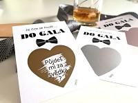 Stírací svatební los - vzkaz pro svědka - Do gala
