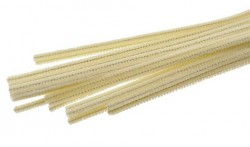Chlupatý drátek  50 cm - krémový -  1 ks