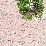 Svatební papírové konfety srdíčka LÁSKA - růžové