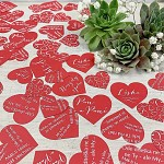 Svatební papírové konfety srdíčka LÁSKA - červená