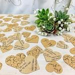Svatební papírové konfety srdíčka LÁSKA - hnědá s černou