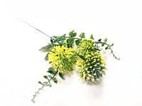 Allium mini - žluté - přízdoba - 45 cm