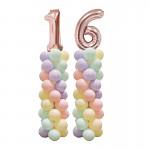 Párty narozeninová sestava balónků s čísly - barva na přání