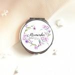 Dárek pro maminku - zrcátko - srdíčko lila