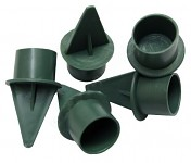 Pinholder na kónické svíčky - zelený - 1ks
