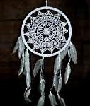 Lapač snů - bílý 22 cm