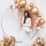 Svatební slavobrána kulatá zlatá - půjčovna