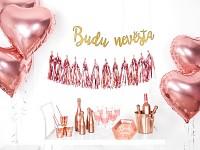 Girlanda - zlatá - Budu nevěsta - 76 cm