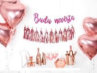 Girlanda - malinová - Budu nevěsta - 76 cm