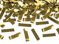 Vystřelovací konfety 40 cm - zlaté obdélníčky
