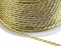 Stuha kroucená - zlatá - 1m