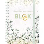 Svatební plánovací blok (diář) - eukalyptus + propiska - A5