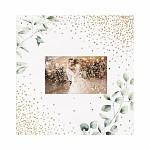 Samolepicí svatební fotoalbum eukalyptus 25 x 25 cm - 50 stran