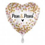 Foliový balonek srdce eukalyptus - svatební - 45 cm