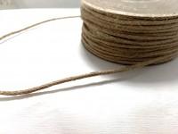 Šňůra na drhání macramé a háčkování jutová - 3 mm/ 1 m