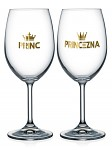 Dárkové párové sklenice na víno - 2x 440 ml - Princ a princezna