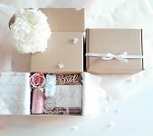 Dárkový box maxi růžovo - modrý - pro nevěstu I.