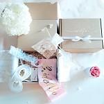 Dárkový box maxi růžovo - modrý - pro nevěstu II.