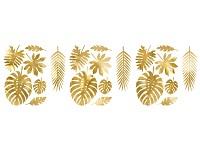 Dekorace Aloha - zlaté listy - 21 ks