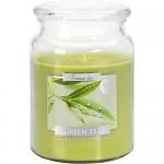 Vonná svíčka lux Bispol Aura - Green tea - 500 g