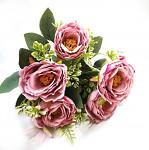 Sedmikrásky růžové - kytice - 12 ks