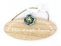 Dřevěné cedule k zavěšení - Klíče od našeho domova