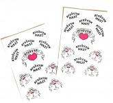 Dočasné tetování Team nevěsty - růžovo-černé
