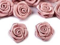 Saténové mini růžičky LUX - starorůžové
