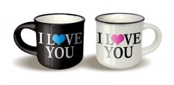 Párové hrníčky espresso - I love you