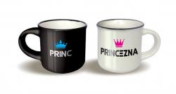 Párové hrníčky espresso - Princ/Princezna