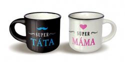 Párové hrníčky espresso - Super táta/Super máma