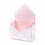Flower (květinový) box - obálka bílo-růžová