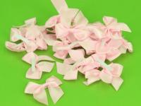 Saténová mašlička s lepítkem - růžová