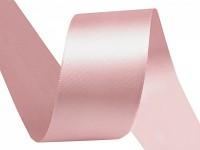 Stuha saténová 10 mm - pudrově růžová - 1 m