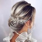 Jůlie hřebínek do vlasů -  stříbrný